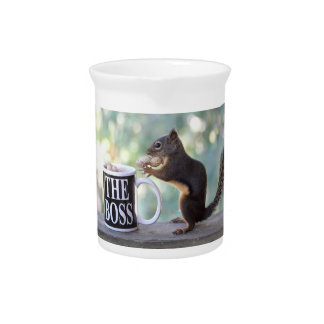 The Boss Squirrel Drink Pitcher