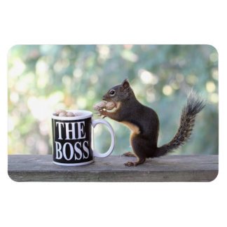 The Boss Squirrel Rectangle Magnet