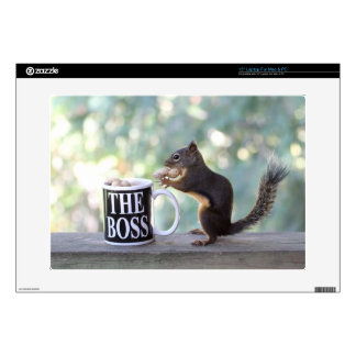 """The Boss Squirrel Decal For 15"""" Laptop"""