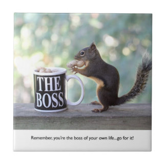 """""""The Boss"""" Squirrel Tile"""