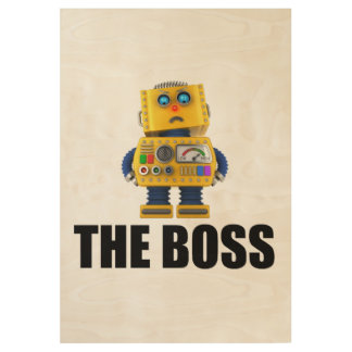 The Boss Wood Poster
