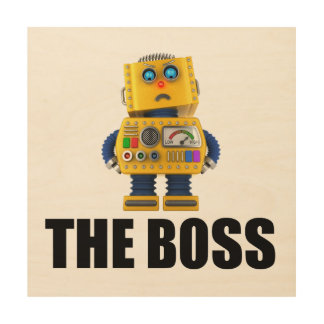 The Boss Wood Wall Decor