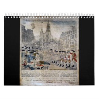 The Boston Massacre by Paul Revere 1770 Calendar