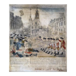 The Boston Massacre by Paul Revere 1770 Canvas Print