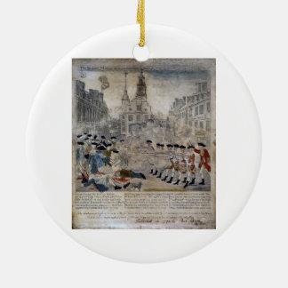 The Boston Massacre by Paul Revere 1770 Ceramic Ornament