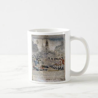 The Boston Massacre by Paul Revere 1770 Coffee Mug