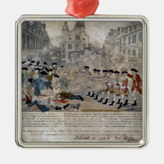 The Boston Massacre by Paul Revere 1770 Metal Ornament