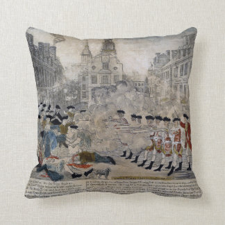 The Boston Massacre by Paul Revere 1770 Throw Pillow