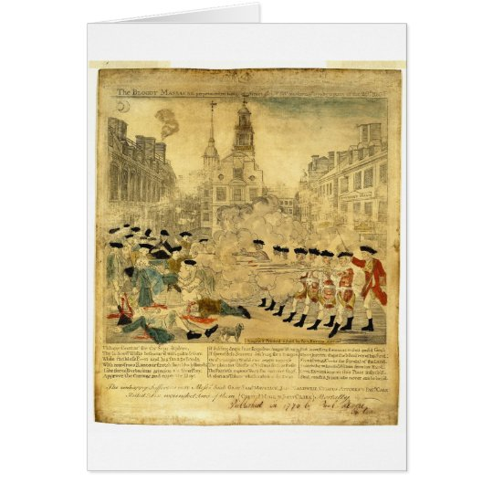 The Boston Massacre by Paul Revere Card