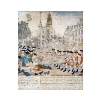 The Boston Massacre Canvas Print