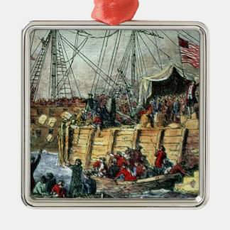 The Boston Tea Party, 16th December 1773 Metal Ornament