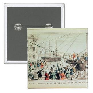 The Boston Tea Party, 1846 Button