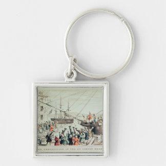 The Boston Tea Party, 1846 Keychain