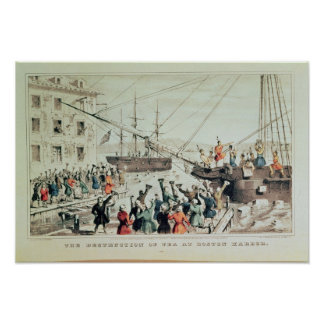 The Boston Tea Party, 1846 Poster