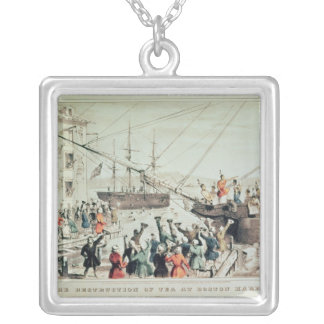 The Boston Tea Party, 1846 Silver Plated Necklace