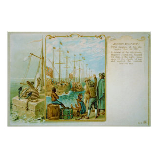 The Boston Tea Party of December 16th 1773 Poster