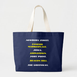 The Boston Traveler from Boston Local Large Tote Bag
