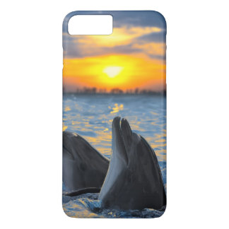 The bottle-nosed dolphins in sunset light iPhone 8 plus/7 plus case