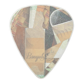 The Bottle of Banyuls, 1914 (gouache & collage) Acetal Guitar Pick