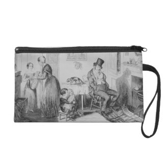 The Bottle, Plate II, He is discharged from his em Wristlet Purse