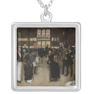 The Boulevard at Night Square Pendant Necklace