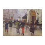 The Boulevard des Capucines Canvas Print