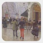 The Boulevard des Capucines Square Stickers