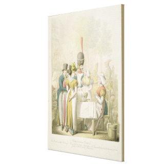 The Boulevard du Temple, from 'Tableau de Canvas Print