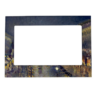 The Boulevard Montmartre at Night Magnetic Photo Frame