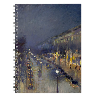 The Boulevard Montmartre at Night Notebook