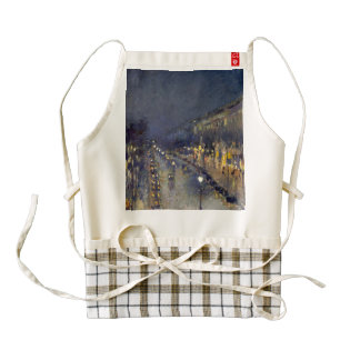 The Boulevard Montmartre at Night Zazzle HEART Apron