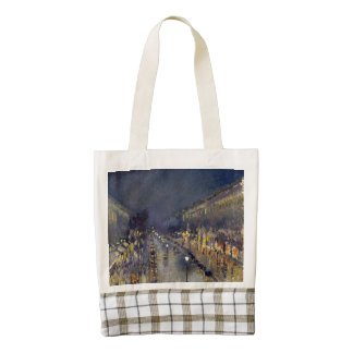 The Boulevard Montmartre at Night Zazzle HEART Tote Bag