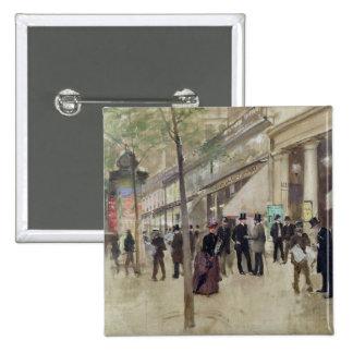 The Boulevard Montmartre Pinback Button