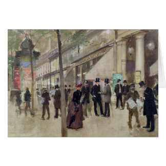 The Boulevard Montmartre Card