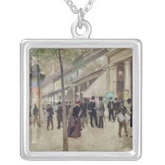 The Boulevard Montmartre Square Pendant Necklace