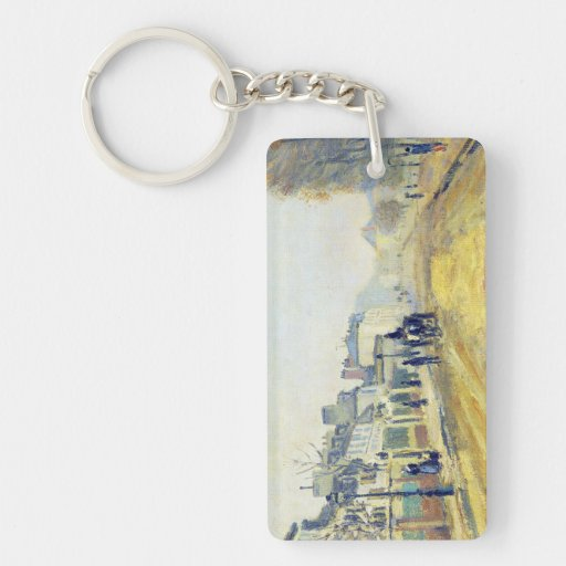 The Boulevard of Heloise in Argenteuil Claude Mone Double-Sided Rectangular Acrylic Keychain