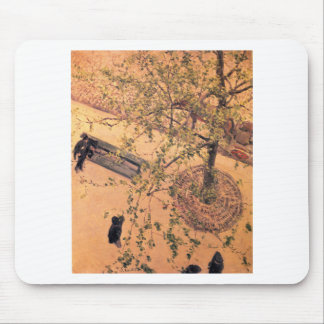 The Boulevard Viewed from Above by Gustave Mouse Pad
