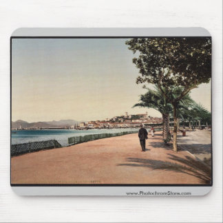 The boulevards, Cannes, Riviera vintage Photochrom Mousepad