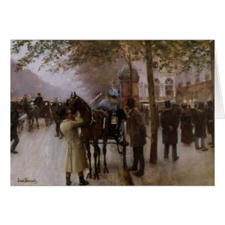 The Boulevards, Evening in Front of the Card
