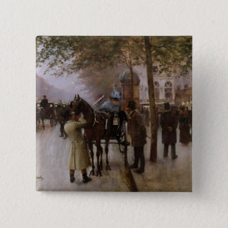 The Boulevards, Evening in Front of the Pinback Button