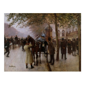 The Boulevards, Evening in Front of the Postcard