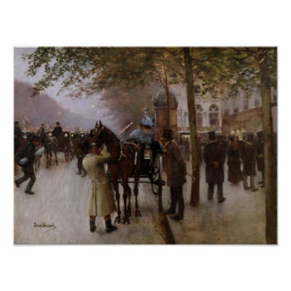 The Boulevards, Evening in Front of the Poster