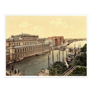 The bourse and harbor, Konigsberg, East Prussia, G Postcard