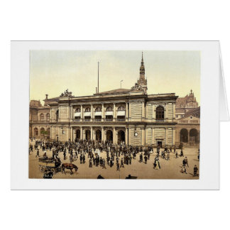 The Bourse, Hamburg, Germany rare Photochrom Greeting Cards