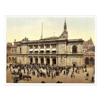 The Bourse, Hamburg, Germany rare Photochrom Post Card