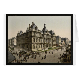 The Bourse, Lyons, France vintage Photochrom Greeting Cards
