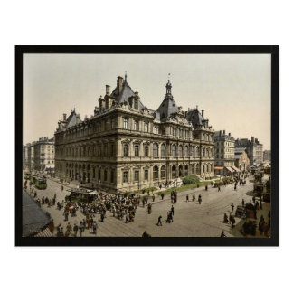 The Bourse, Lyons, France vintage Photochrom Post Card