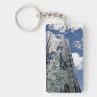 The Bow in Calgary Alberta Canada Single-Sided Rectangular Acrylic Keychain