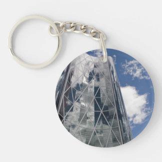 The Bow in Calgary Alberta Canada Single-Sided Round Acrylic Keychain