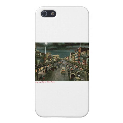 The Bowery, by Night, New York. Vintage. iPhone 5 Case